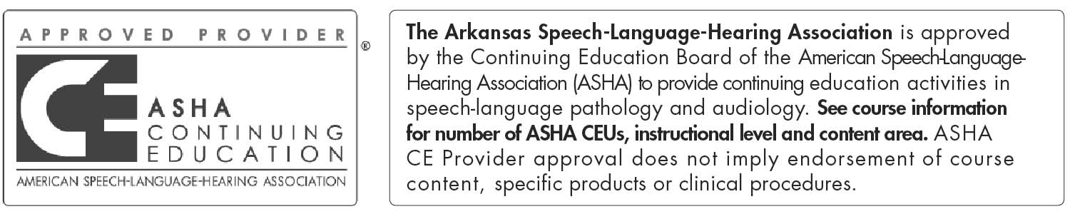 The Arkansas Speech Language Hearing Association long1